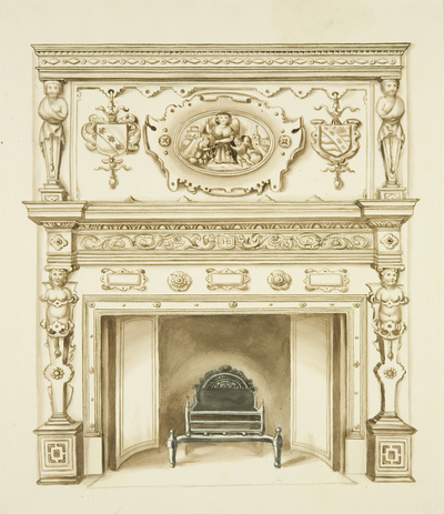 Chimneypiece, 1628, at the Law Library, Corn Street
