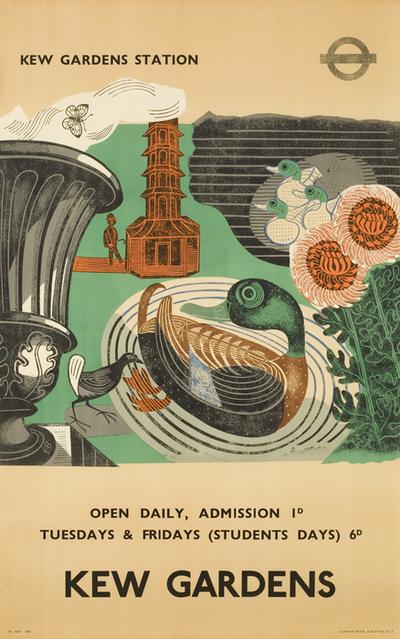 Poster: 'Kew Gardens' [London Transport]