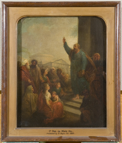 Saint Paul Preaching at Athens [study for, or reduced replica of altarpiece for St Paul's, Portland Square, Bristol]