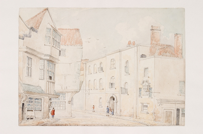Newgate Prison and the Cat and Wheel, Narrow Wine Street