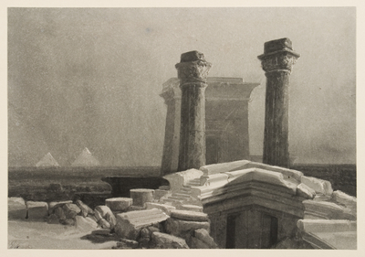 Egyptian Landscape with Columns, Gateway and Pyramid