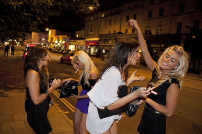 England. Bristol. A Girls' Friday Night Out. 2009.