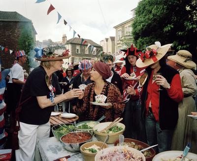 England. Bristol. Goldney Avenue. Neighbours Celebrating the Queen's Golden Jubilee. 2002.