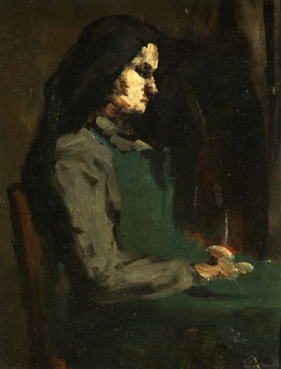 Woman with a Green Apron