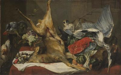 Still Life with Dead Game, a Monkey, a Parrot, and a Dog