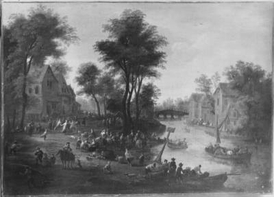 Image from object titled Fruit Market near a River