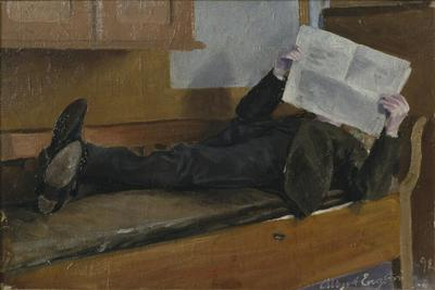 Image from object titled The Artist's Father, Reading a Newspaper