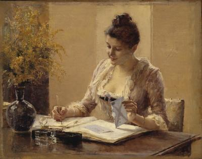 Image from object titled Lady Writing a Letter