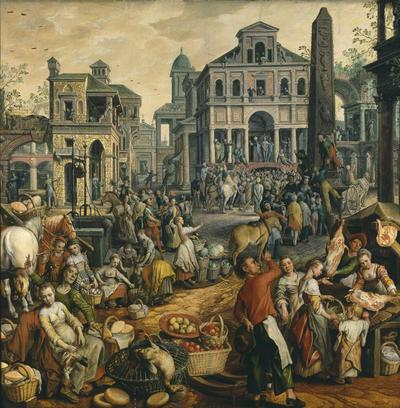 Image from object titled Market Scene with Ecce Homo