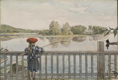 Lisbeth Angling. From A Home (26 watercolours) | Carl Larsson
