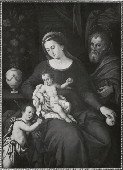 Image from object titled The Holy Family with the Infant St John