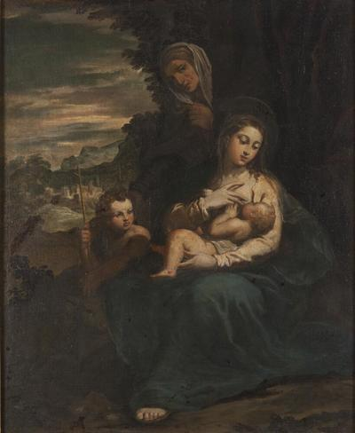 Image from object titled The Virgin and Child with St Elizabeth and the Infant St John