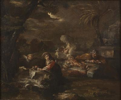Image from object titled Rest on the Flight into Egypt