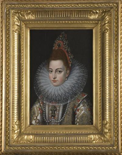 Image from object titled Isabella Klara Eugenia, 1566-1633, gift med ärkehertig Albrekt av Österrike