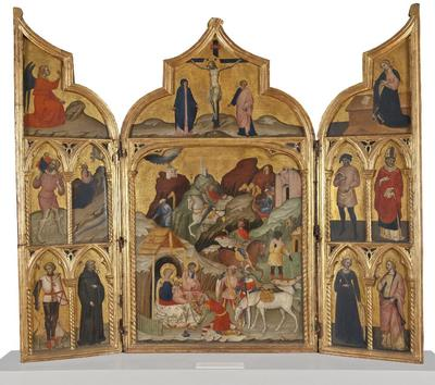 Image from object titled Triptych with the Adoration of the Magi and Saints