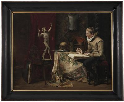 Image from object titled The Artist's Studio, with Selfportrait