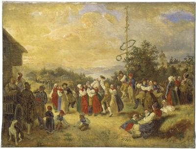 Image from object titled Midsummer Dance at Rättvik