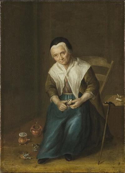 Image from object titled Birgitta (Brita) Johansdotter 1680-1763, piga