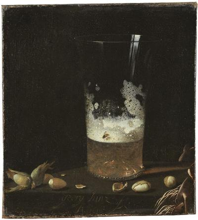 Image from object titled Still Life with a Glass of Beer and Nuts