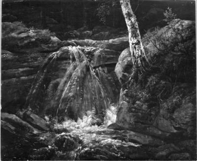 A Waterfall. Study | Johan Christian Dahl