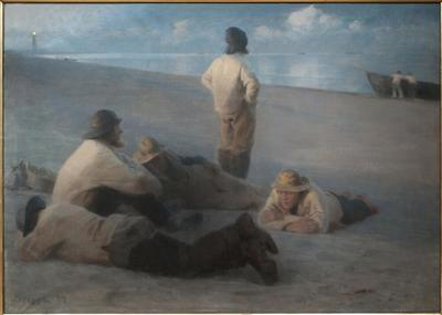 Image from object titled Summer Evening on the Beach at Skagen