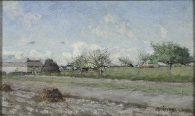 Image from object titled Apple Tree in Flower. Motif from Barbizon