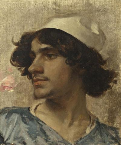 Head of Young man. Study