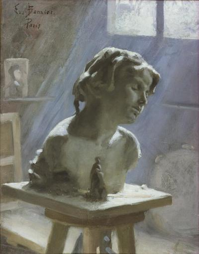 Image from object titled Interior of a Studio in Paris