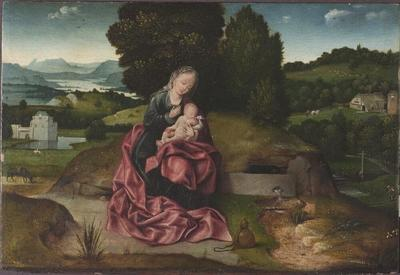 Image from object titled Virgin and Child Resting during the Flight into Egypt