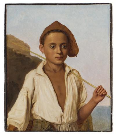 Porträtt av en fiskarpojke från Capri