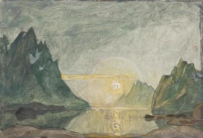 Image from object titled Midnight Sun. Study from North Norway