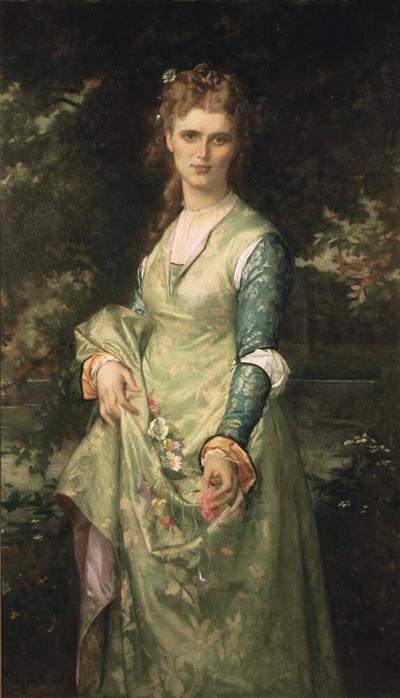 Christina Nilsson, 1843-1921, opera-singer, as Ofelia