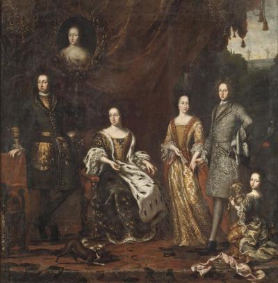 Image from object titled Karl XI konung av Sverige med familj