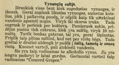 Image from object titled Vynuogių sultys (receptas)
