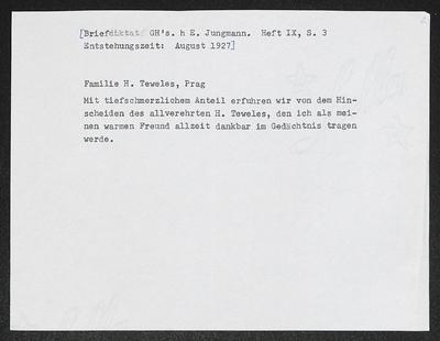 Image from object titled Brief von Gerhart Hauptmann an Charlotte Teweles