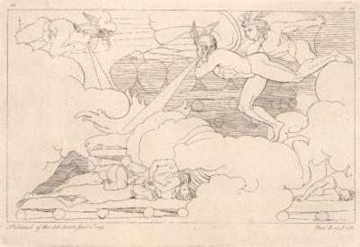 Wiatry wieją na stos Patroklosa