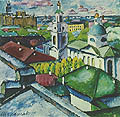 Вид Москвы. Мясницкий район; A View of Moskow. Miasnitsky District