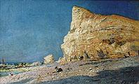 Скалы в Фекане. Нормандия. Франция; Rocks at Fecamp. Normandy. France
