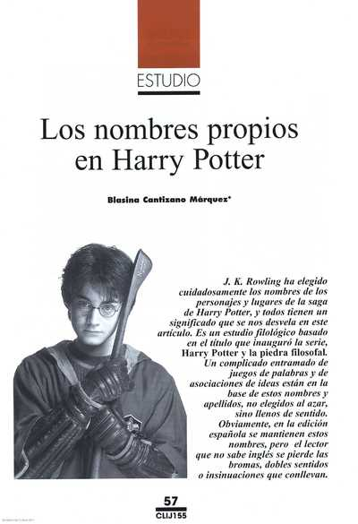 Image from object titled Los nombres propios en Harry Potter