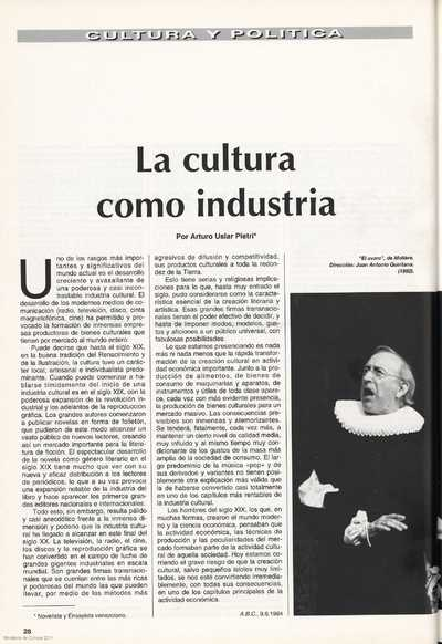 Image from object titled La cultura como industria