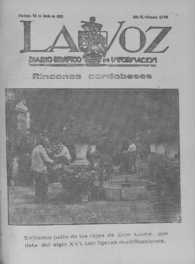 Image from object titled La voz : diario gráfico de información: Año IX Número 3196 - 1928 junio 18