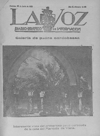 Image from object titled La voz : diario gráfico de información: Año IX Número 3198 - 1928 junio 20