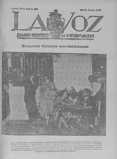 Image from object titled La voz : diario gráfico de información: Año IX Número 3199 - 1928 junio 21