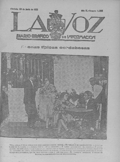 Image from object titled La voz : diario gráfico de información: Año IX Número 3200 - 1928 junio 22
