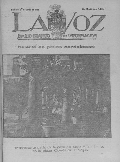 Image from object titled La voz : diario gráfico de información: Año IX Número 3205 - 1928 junio 27