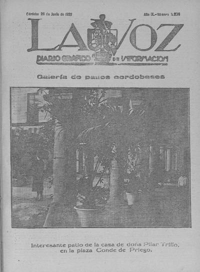 Image from object titled La voz : diario gráfico de información: Año IX Número 3206 - 1928 junio 28