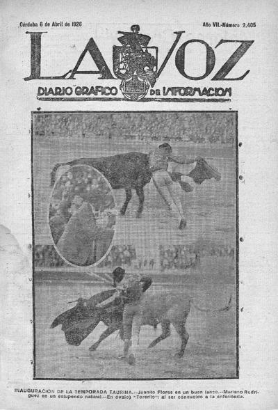 Image from object titled La voz : diario gráfico de información: Año VII Número 2405 - 1926 abril 6