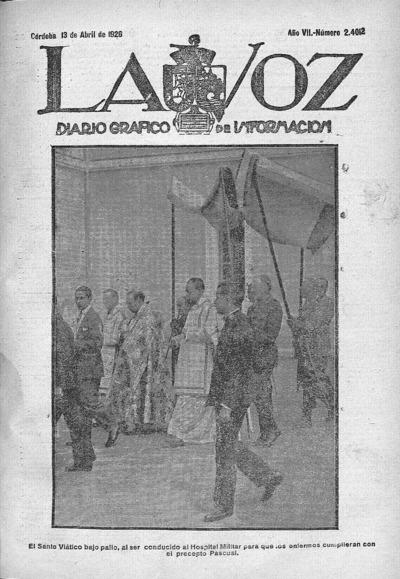 Image from object titled La voz : diario gráfico de información: Año VII Número 2412 - 1926 abril 13