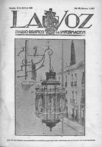 Image from object titled La voz : diario gráfico de información: Año VII Número 2414 - 1926 abril 15