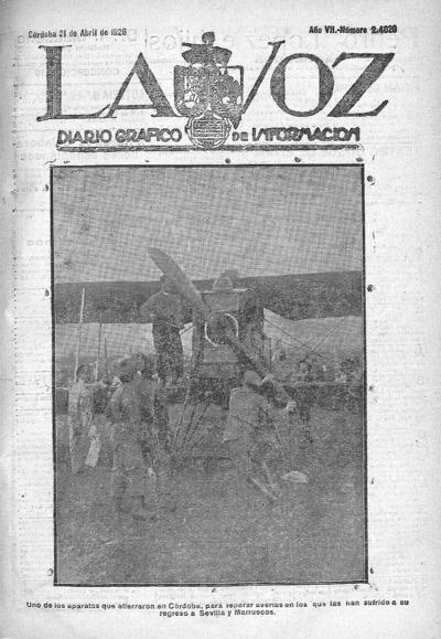 Image from object titled La voz : diario gráfico de información: Año VII Número 2420 - 1926 abril 21